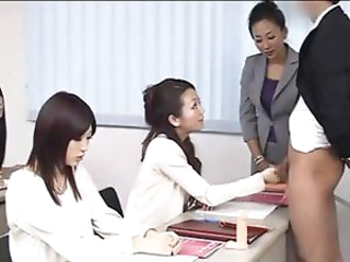 Babe CFNM Groupsex Handjob Japanese Office Pornstar