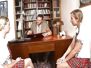 Principle stiff penis fucks naughty students
