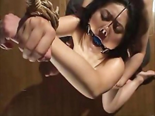 Asian housewife flunkey gets gagged, bound coupled with whipped surrounding discipline her
