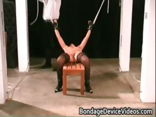 Clamps On Her vagina hard core bdsm part2