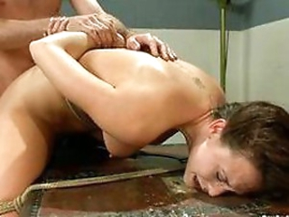 Anal for a bound beauty