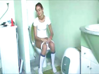 spanish Natasha at water closet
