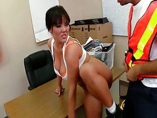 Claire inspects a building site and gets fuck