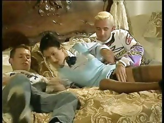 Debbie gets double penetrated by some stallions and she loves it