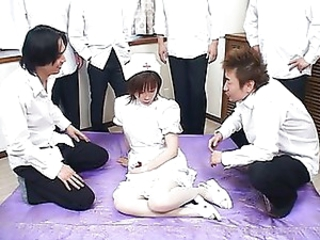 Asian nurse gangbanged and peed chiefly