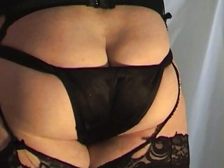 Black Satin Panty Cummer