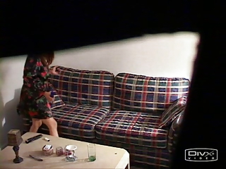 Hidden Cam Catches Asian Girl On Chaise longue