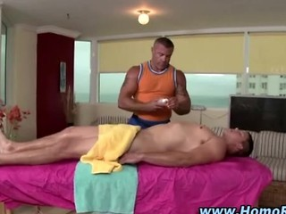 Straight Guy Gets Hard During Massage