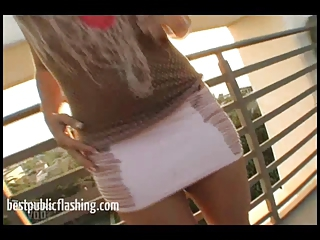 Daring Public Nudity Flashing - Kirra Public Strip Part 1