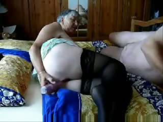 Grandma And Grandpa Get Busy As He Plays With Her Pussy Before Fucking