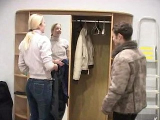 Very Tall Russian Woman Fucked By Repairman And Invaders
