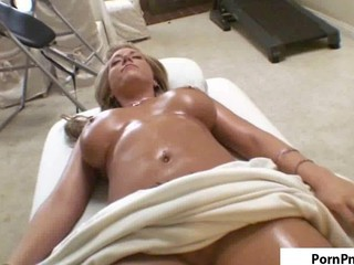 Busty Blonde Tit Massage