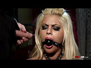 Babe In A Ball Gag Pissed On