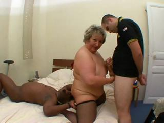 Nasty French Fat Mature, Carole, Gets Interracial Fucked