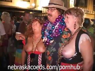 Key West Fantasy Fest Festival With Busty Babes Showing It Off