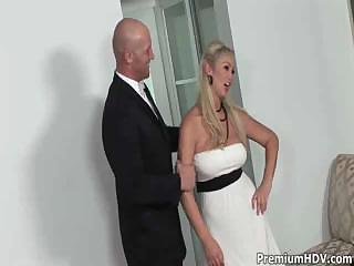 Blond Babe Enjoying Huge Cock Fucking