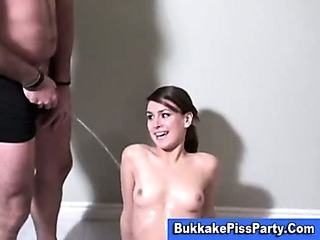 Pissing Bukkake Slut Golden Shower