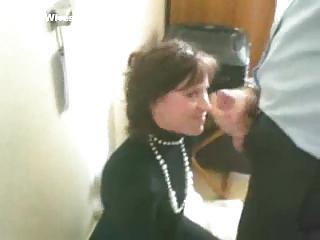 Secretary In Pearls Giving Blowjob