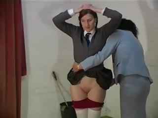 Naughty Schoolgirls Gets Her Ass Spanked By Lesbian Teacher