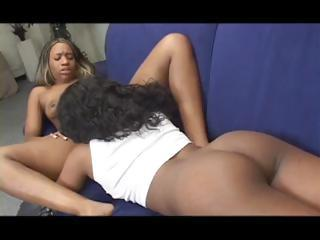 Ebony Models Beauty Dior And Kianna Jayde Toying Each Other`s Pussies