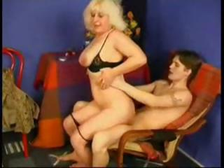 Venerable Mom Spanks Him And Gear up Fucsk Him