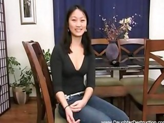 cute daughter getting double fucked