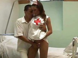 Nurse gives head and gets pounded