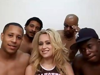 Brynn Brooks - Interracial Gangbang