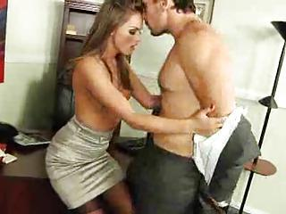 Office Hottie Tori Lowering Boned In Stockings