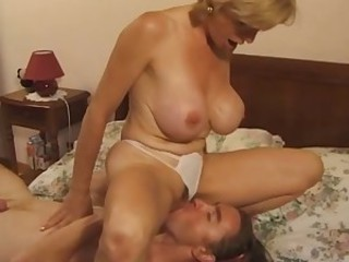 Big Tits Facesitting Licking Mature Old and Young Panty