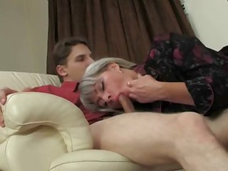 Russian amateur blond mother