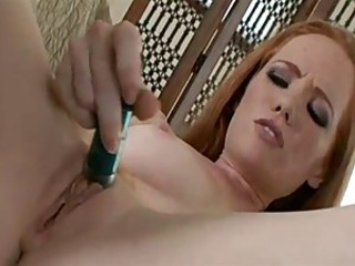 Multi-Orgasmic Redhead Gets Lacking With Her Toys