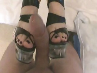 Footjob Cumshot foot fetish feet COMMENT PLEASE