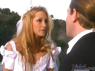 Fucking Jessica Drake in her bridal outfit