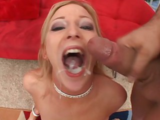 Alexa Lynn swallowing some loads of cum