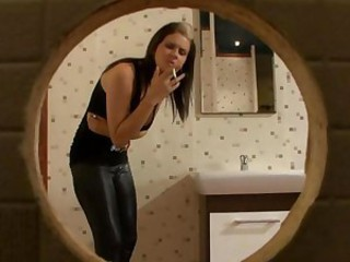 Gloryhole Smoking