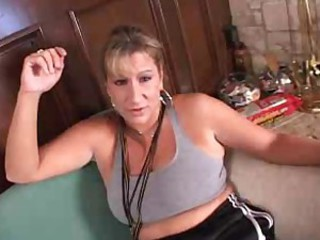 Mature blonde gets lark and dear one