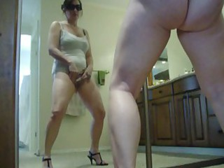 orgasm real self taped standing pussy sweet ass leg girl