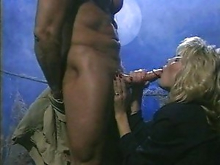 Blonde jerks dick to a massive cumshot