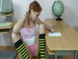Cute redhead teen in like manner