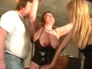 Chesty mature floozy loves BDSM games as A she