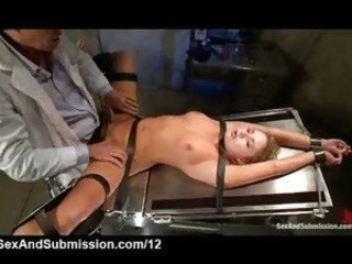 Large cocked doctor fucks bound blonde