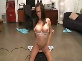 Brunette Jenna Presley can't live without riding a sybian but also blowing and fucking