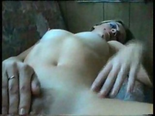 Nice Blond strokes her cunt