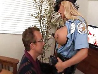 Fucking lose one's train of thought breasty cop Shyla Stylez