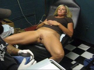 The Slut Was Taken To The Shop To Have Her Clit Hood Pierced