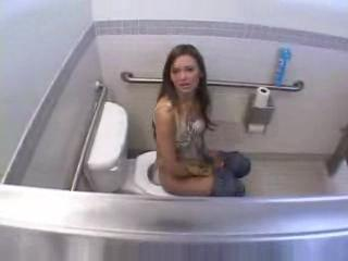 Amateur Anal POV In Public Bathroom ( teen young ass 18 daughter cumshot blowjob milf mature )