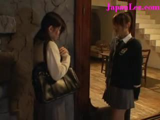 Japanese Lesbian Religious School Girl Sins up Friend