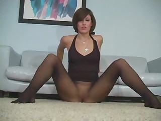 Brunette Cute Panty Pantyhose Teen