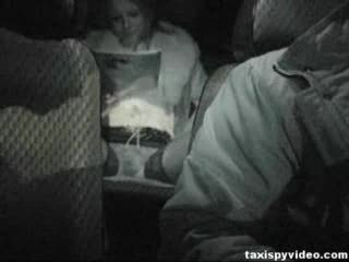 Taxi Spy Video nice girl masturbating
